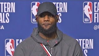 LeBron James Reacts To Going Down 0-2 vs Celtics Despite Dropping A 40 Point Triple Double