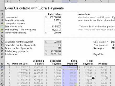 Mortgage Accelerator  Heloc Savings Calculator  Youtube