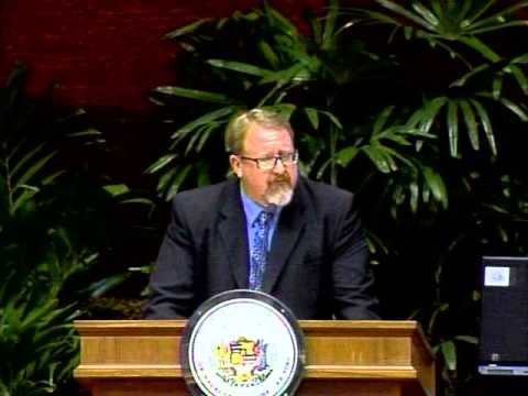 Rep. Bob McDermott gives the Invocation in the Hawaii House of Representatives