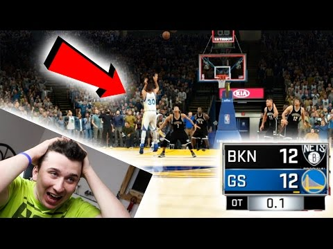 Can I Win A Game Only Shooting Buzzer Beaters With Steph Curry? NBA 2K17 Challenge