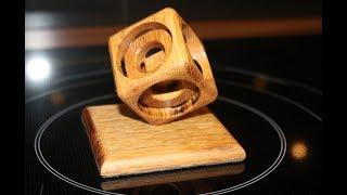 Holz Würfel im Würfel auf Drechselbank / Wooden Cube in a Cube on lathe – diy