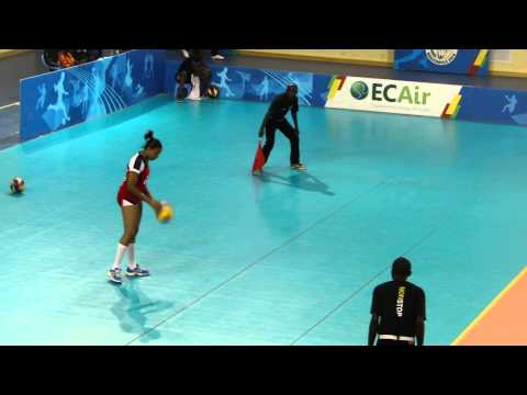 Seychelles women team v Cameroon in Pool B of Women's All Africa Games