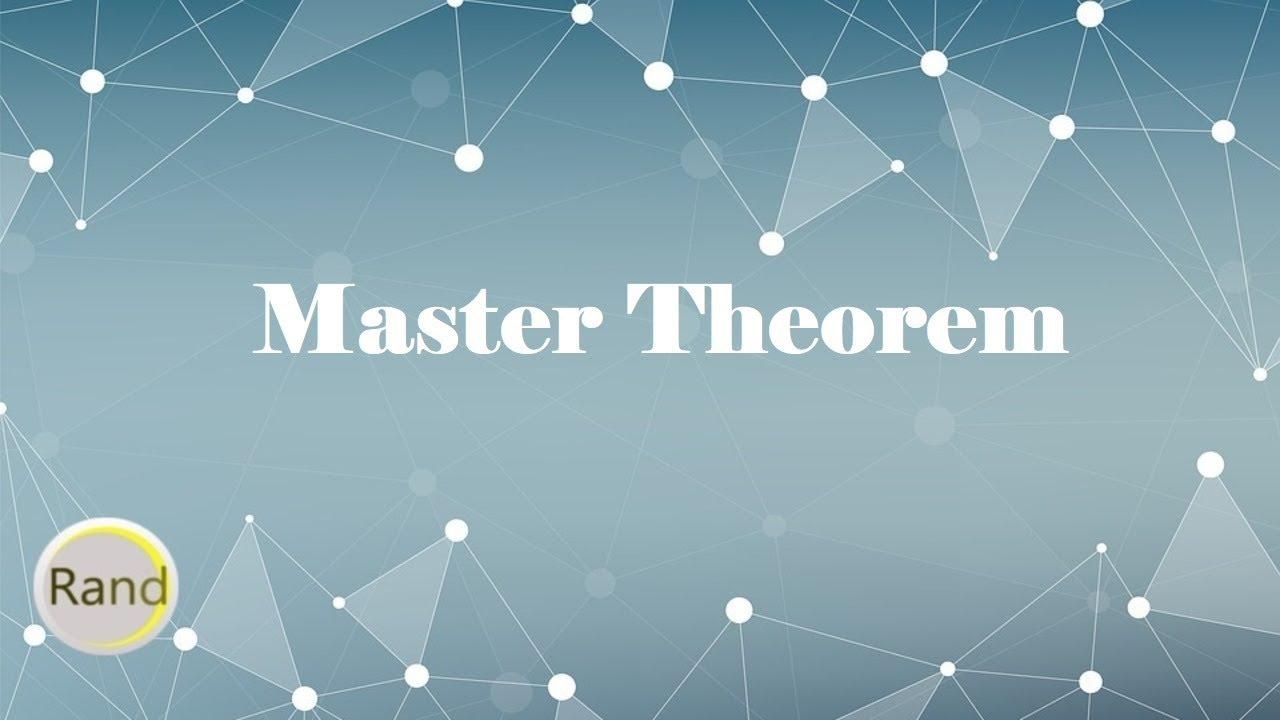 Master Theorem Youtube