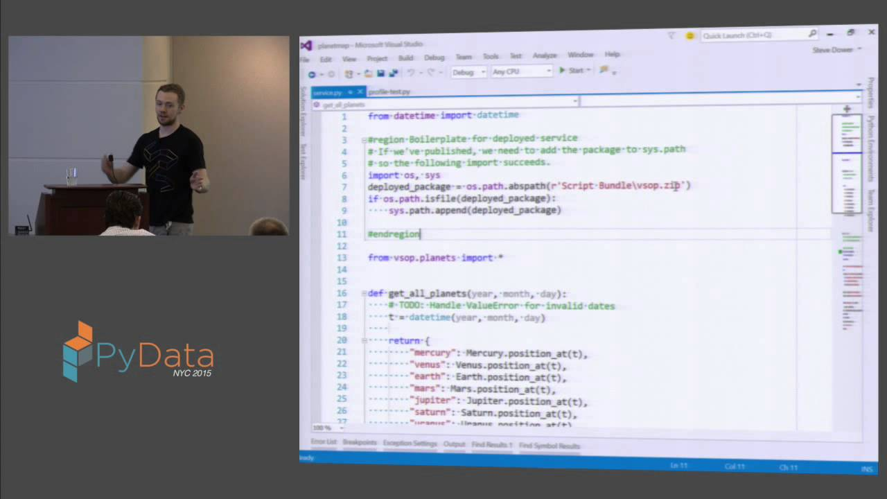 Image from Steve Dower: Using Python in Visual Studio