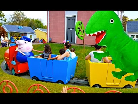 Real Peppa /KIDS Playing at Peppa Pig World Park / Family Fun PlayArea