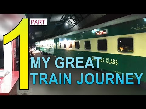 Part 1: My journey on Green Line Express Train from Karachi to Rawalpindi - 4K video