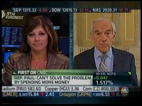 """Congressman Ron Paul on CNBC's """"Closing Bell"""" with Maria ..."""