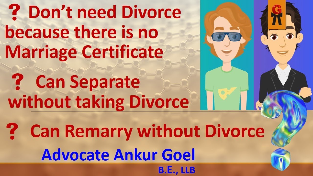 We Don T Need Divorce Because There Is No Marriage Certificate