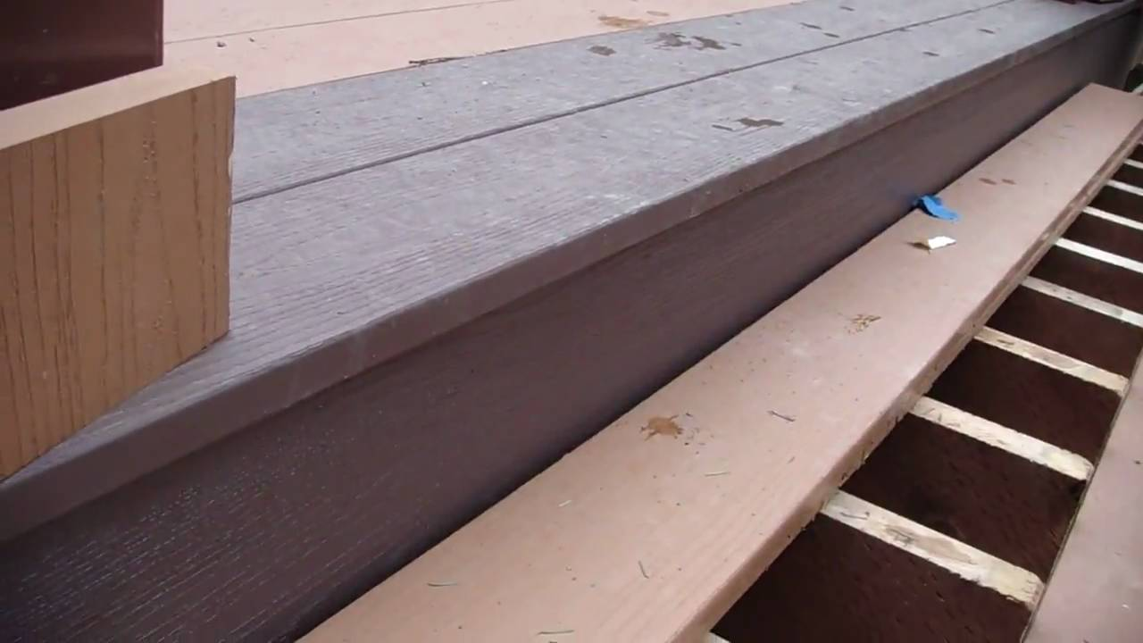 Top Stair Tread And Trim.   YouTube