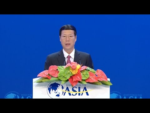Chinese vice premier hails economic globalization at Boao Forum opening ceremony