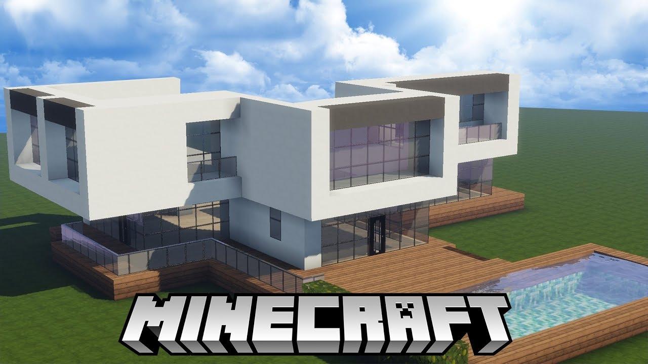 Minecraft constru o casa moderna 1 passo a passo nova for Casa moderna 1 8