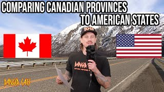 Comparing Canadian Provinces to United States | Uncle Hack