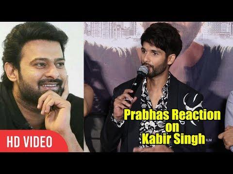 Shahid Kapoor about Greatness Of Prabhas | Kabir Singh Trailer Launch | Sandeep Reddy Mp3