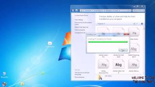 How To Install Fonts on Windows 7 & Windows Vista