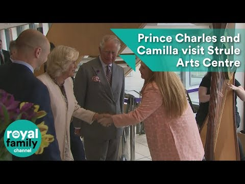Prince Charles and Camilla visit Strule Arts Centre in Northern Ireland