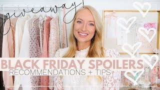 BLACK FRIDAY SALE CODES + SHOPPING RECOMMENDATIONS + HUGE GIVEAWAY! | Amanda John