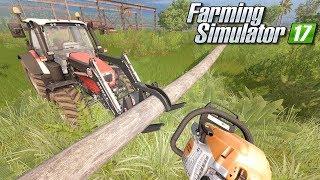 Wycinanie palm - Farming Simulator 17 [PLATINUM] | #21