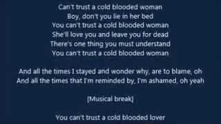 The Pretty Reckless - Cold Blooded (LYRICS)