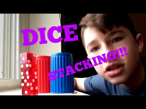 Dice Stacking Trick Shots 2!!! *you