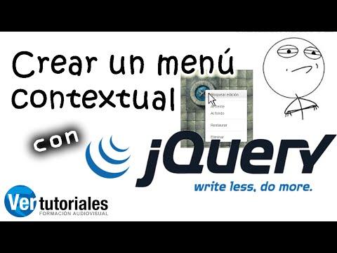 Crear menú contextual con JQuery al pulsar el botón derecho del ratón