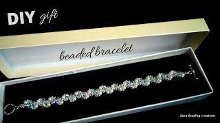 DIY gift bracelet. Beaded bracelet tutorial for beginners