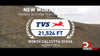 TVS Apache RTR 200 4V - World Record for Highest Altitude Reached by a Motorcycle.