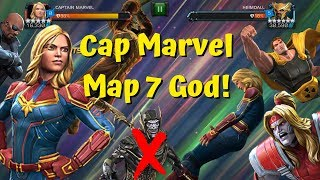 Captain Marvel Map 7 God! Omega Red Takedown! Brawl Path! - Marvel Contest of Champions