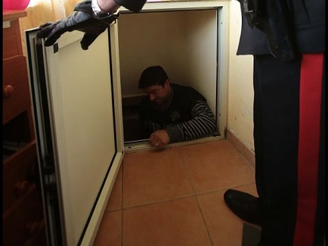 Police arrest mafia godfather's son after discovering secret tunnel accessed through a fake fridge