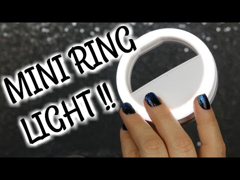 AMAZON MADE ME BUY IT | MINI SELFIE RING LIGHT FOR YOUR PHONE | Is It Worth it? | BeautyByJosieK