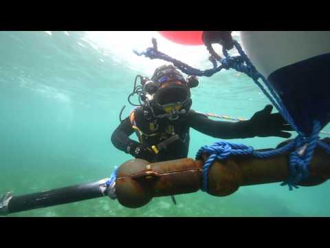 Pose du câble sous-marin