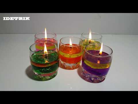 Cara Membuat Lilin Air Cantik