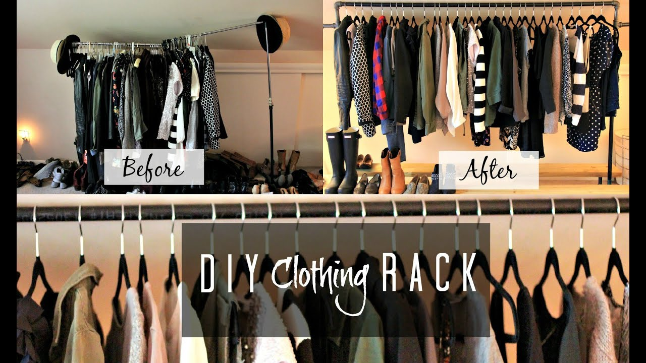 DIY Clothing Rack! | MissFashioneda   YouTube