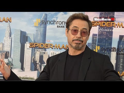 Robert Downey Jr. Dance Moves at 'Spider-Man: Homecoming' LA film premiere
