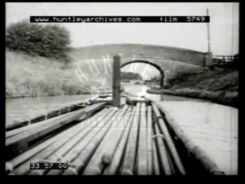 Canals in Britain in the 1950's.  Flm 5749
