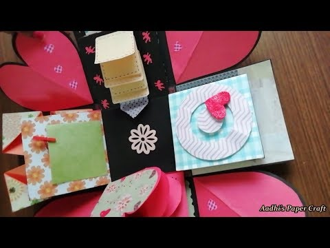 How to make Explosion box / DIY Valentine's Day Explosion Box /Explosion Box Tutorial / Part - 3