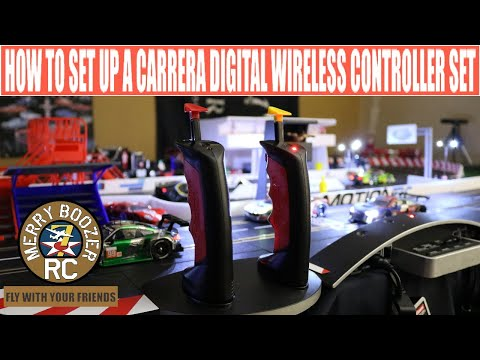 Carrera 132 124 Wireless Controller Installation and programming for digital slot car racing.