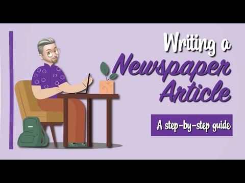 ESL - Writing a newspaper article (step-by-step guide)