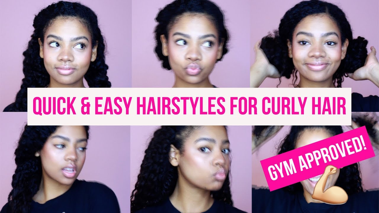 Quick Easy Gym Hairstyles For Curly Hair