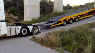 truck dragged up a hill