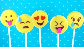 Emoji Cookie Pops! How To Make No Bake Emoticon Oreos! | My Cupcake Addiction