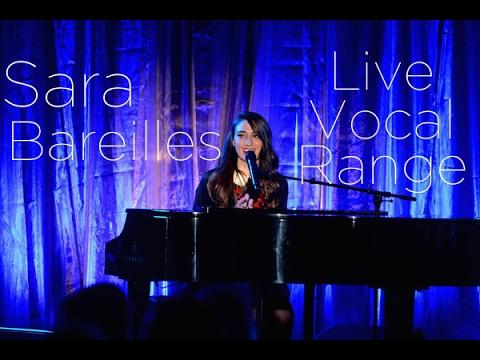 Sara Bareilles - Live Vocal Range (C3-G5/B5-E6)