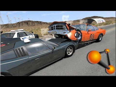 BeamNG Drive Dukes of Hazzard Crashes, Jumps & Stunts #2