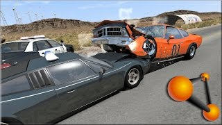 BeamNG Drive Dukes of Hazzard Crashes, Jumps & Stunts #2 - Insanegaz