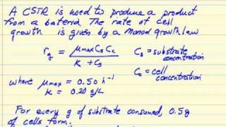 Washout Calculation for CSTR Bioreactor (Bio)
