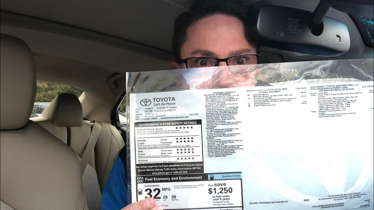 How to Buy a New Car: How to Read a Window Sticker