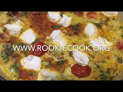 Tomato, Chorizo and Goat's Cheese Frittata