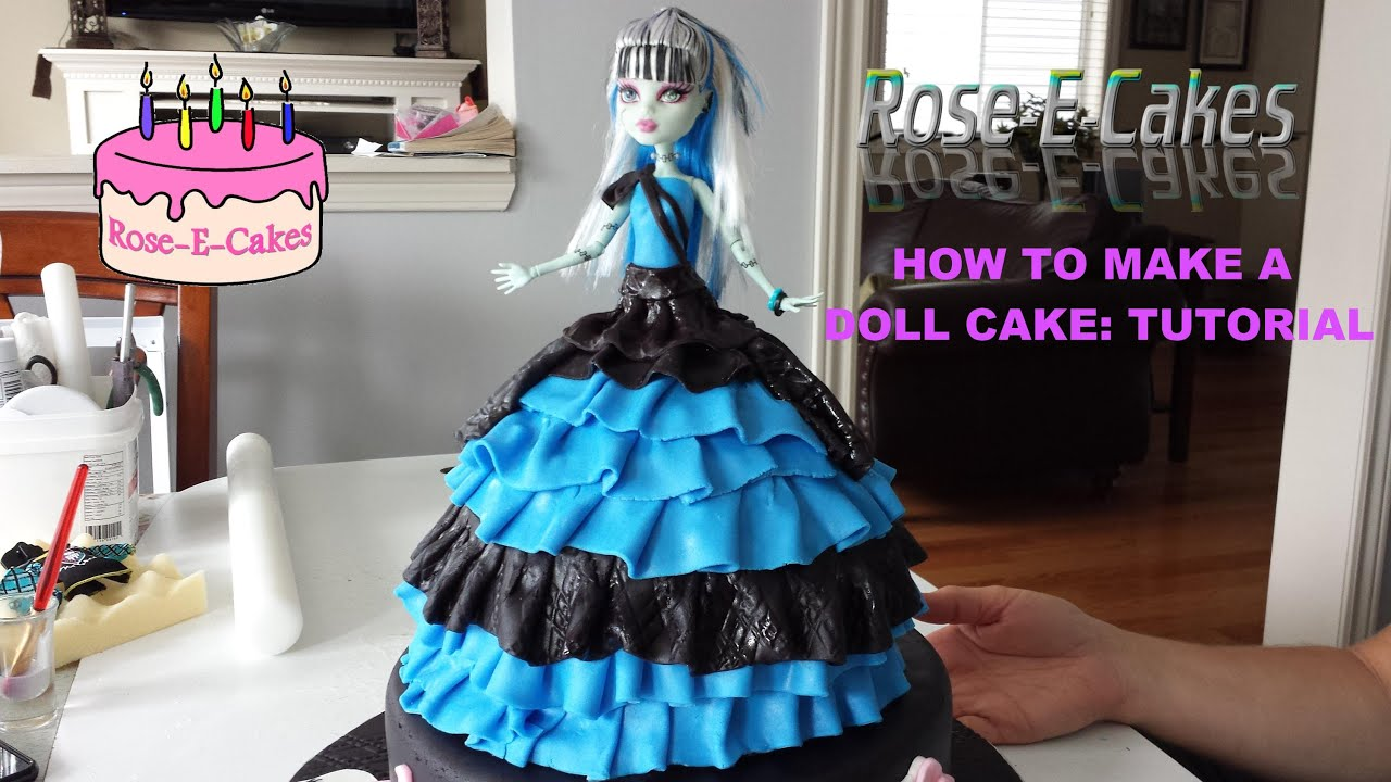How To Make A Monster High Doll Cake  Frozen Princess Or Barbie Cake   Part 1  Youtube