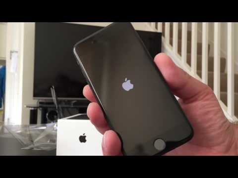 Распаковка iPhone 7 32GB Black unboxing 16/09/16 unboxing Live