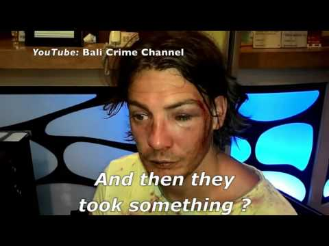 Aussie tourist 'handcuffed, bashed, robbed by Bali nightclub security' (English subtitles)