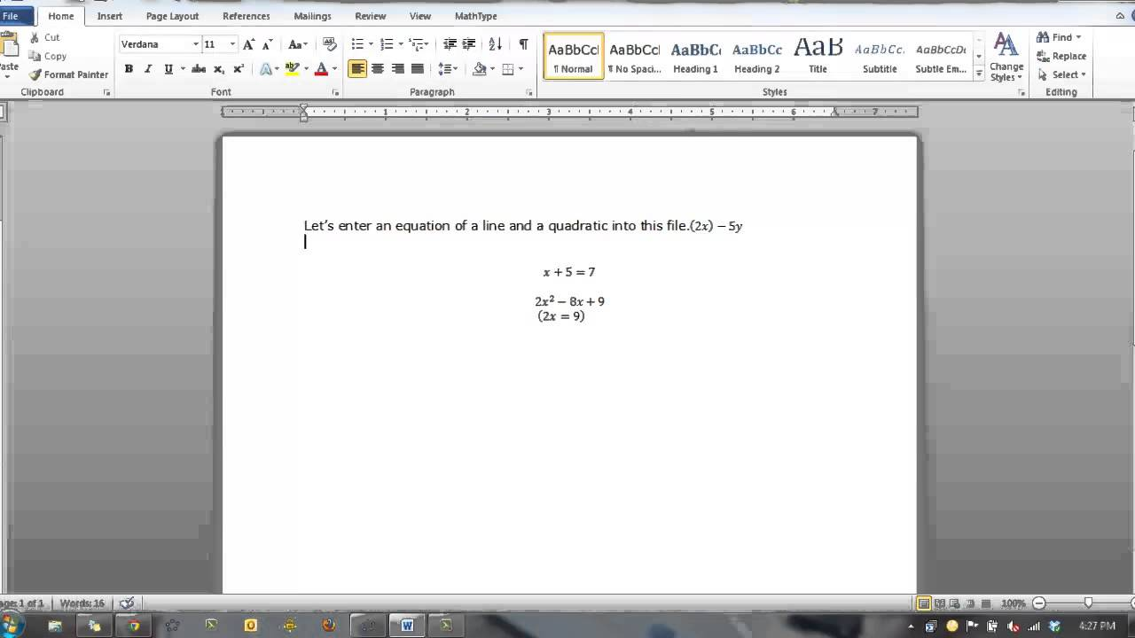 how to use equation editor in word